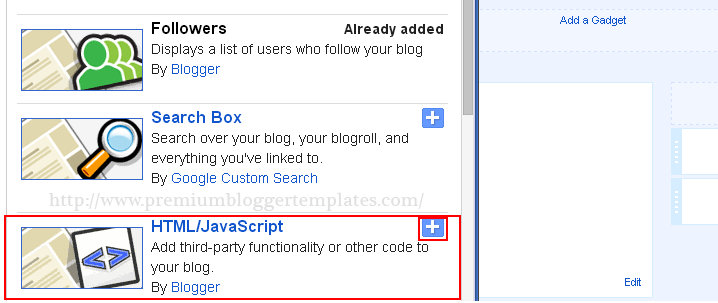 Select HTML-Javascript Widget