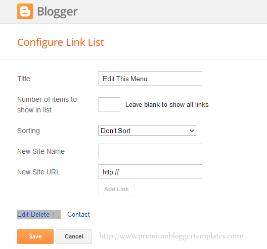 A Link Added to LinkList Widget