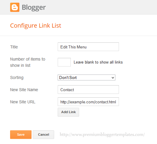 Adding Links to LinkList Widget