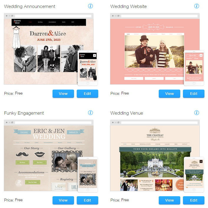 Wix website templates for weddings events premium for Wix templates for wordpress