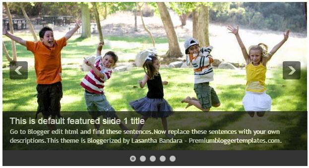 Configure Blogger Featured Content Slider