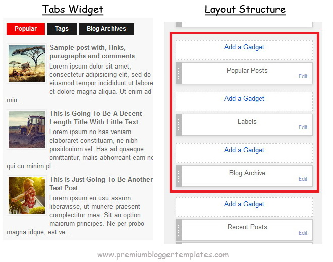 Blogger Tabs Widget