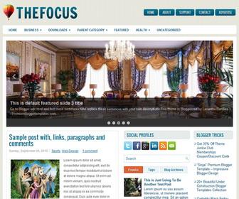 TheFocus Blogger Template