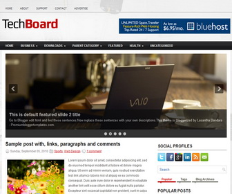 TechBoard Blogger Template