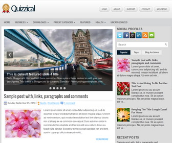 Quizzical Blogger Template