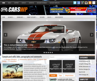 CarsWp Blogger Template