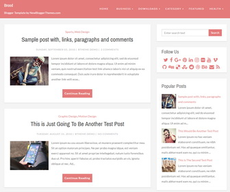 Brood Blogger Template