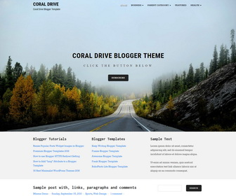 Coral Drive Blogger Template