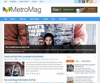 MetroMag Blogger Template