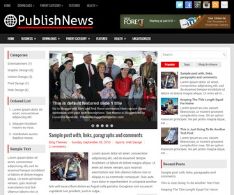 PublishNews Blogger Template