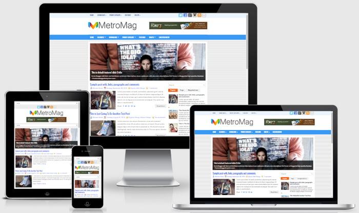 Responsive View - MetroMag Blogger Template