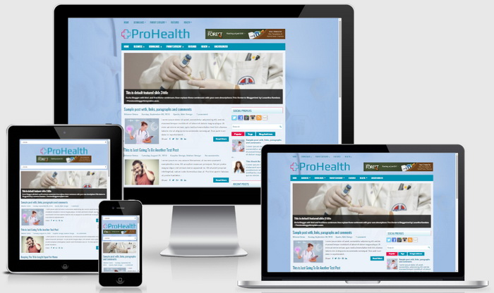 Responsive View - ProHealth Blogger Template
