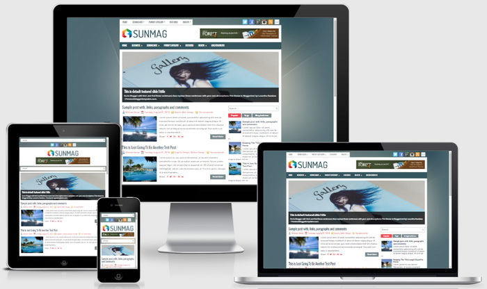 Responsive View - SunMag Blogger Template