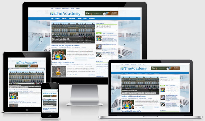 Responsive View - TheAcademy Blogger Template