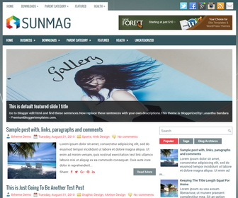 SunMag Blogger Template