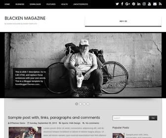 Blacken Magazine Blogger Template