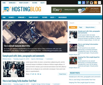HostingBlog Blogger Template