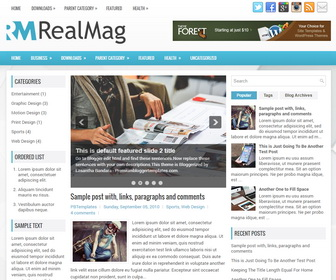 RealMag Blogger Template