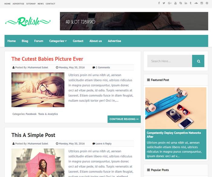 Relish Blogger Template