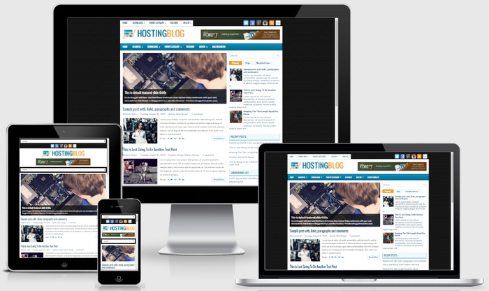 Responsive View - HostingBlog Blogger Template