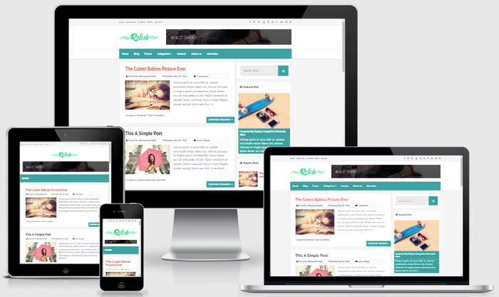 Responsive View - Relish Blogger Template
