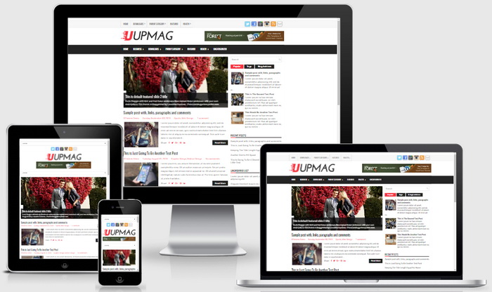 Responsive View - UpMag Blogger Template