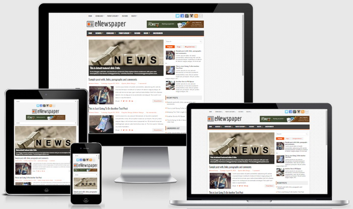 Responsive View - eNewspaper Blogger Template