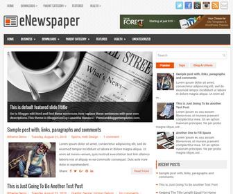 eNewspaper Blogger Template