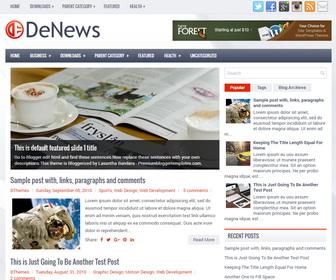 DeNews Blogger Template
