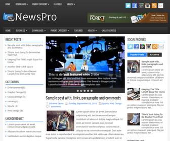 NewsPro Blogger Template