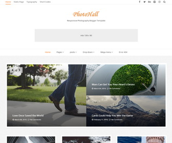 PhotoHall Blogger Template