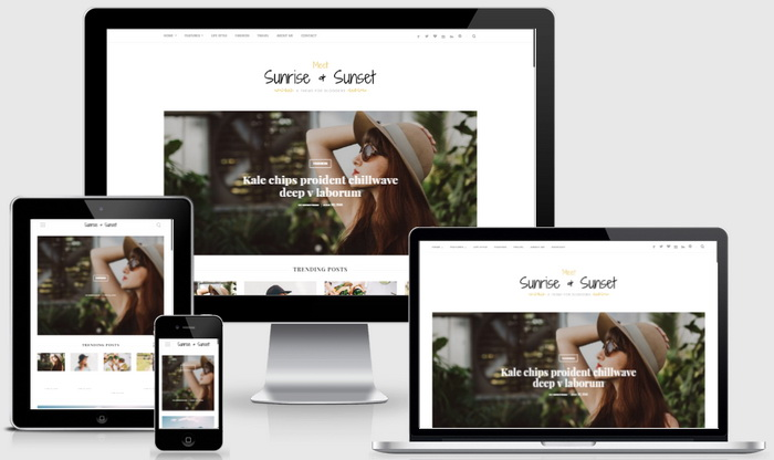 Responsive View - Sunrise and Sunset Blogger Template