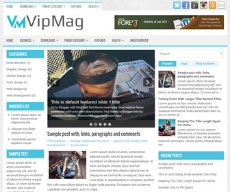 VipMag Blogger Template
