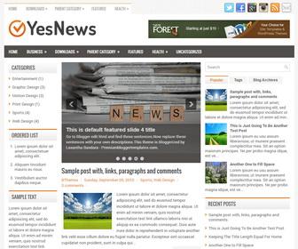 YesNews Blogger Template