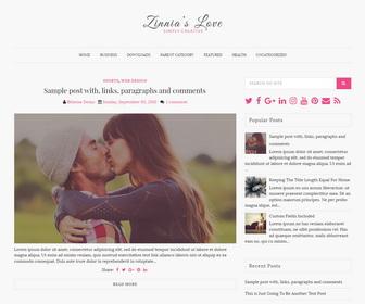 Zinnias Lite Blogger Template