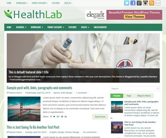 HealthLab Blogger Template