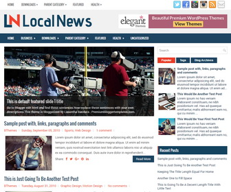 LocalNews Blogger Template