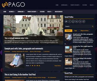 Pago Blogger Template