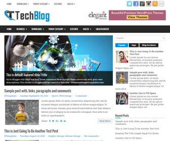 TechBlog Blogger Template