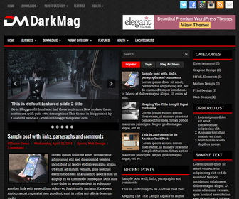 DarkMag Blogger Template