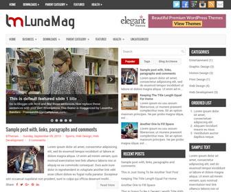 LunaMag Blogger Template