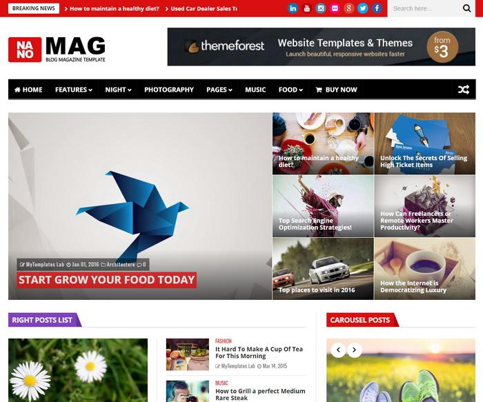 NanoMag Blogger Template