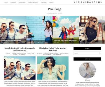 Pro Blogg Blogger Template