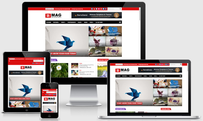 Responsive View - NanoMag Blogger Template