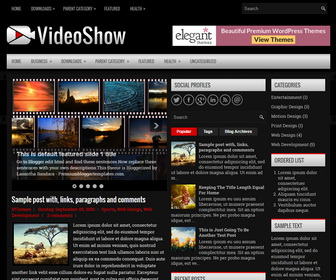 VideoShow Blogger Template