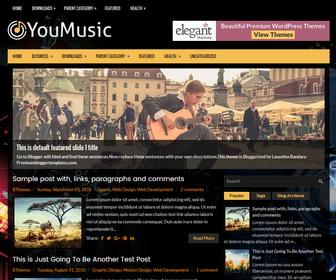 YouMusic Blogger Theme