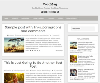 CocoMag Blogger Template