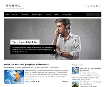 PersesMag Blogger Template