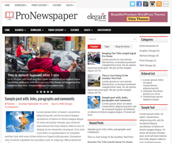 ProNewspaper Blogger Template