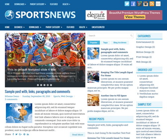SportsNews Blogger Template